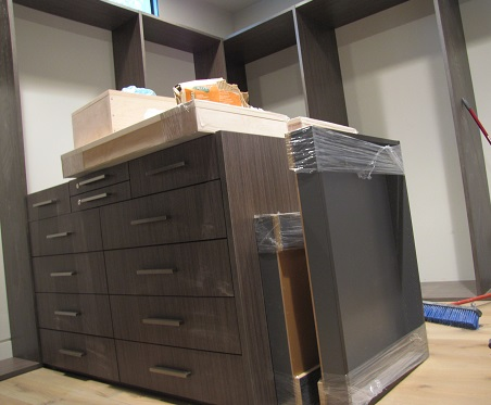 Interior Progress – Cabinet Installation