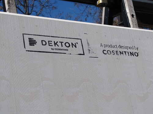 Interior Progress – Dekton Installation