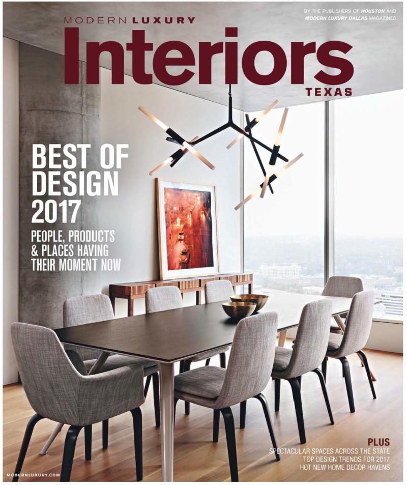 Cover - Modern Luxury Interiors Texas Winter 2017